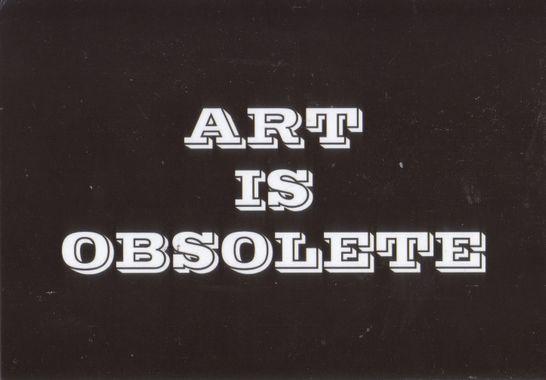 Art is Obsolete