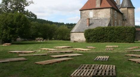 J-4 : Installation au parc du château