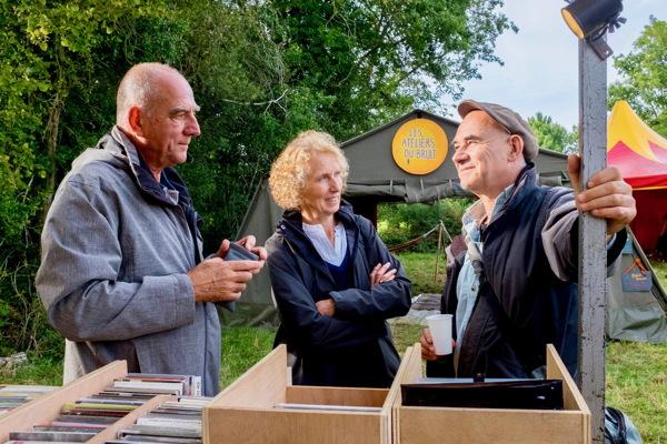 Bernard Aimé (ex. Petit Faucheux de Tours) et sa compagne avec Michel Doneda photo © Gérard Rouy